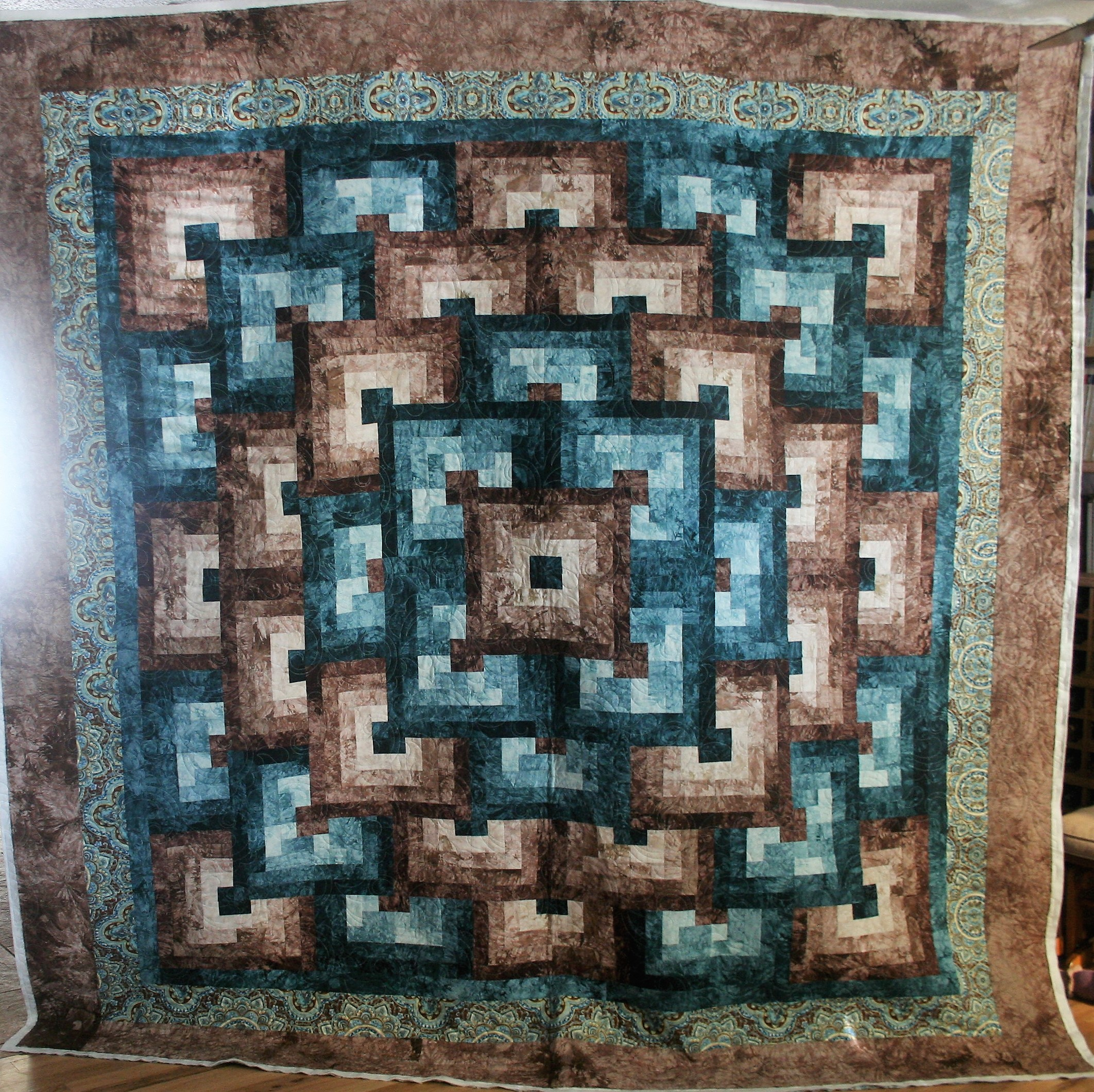 Turquoise and Brown Paisley (front)