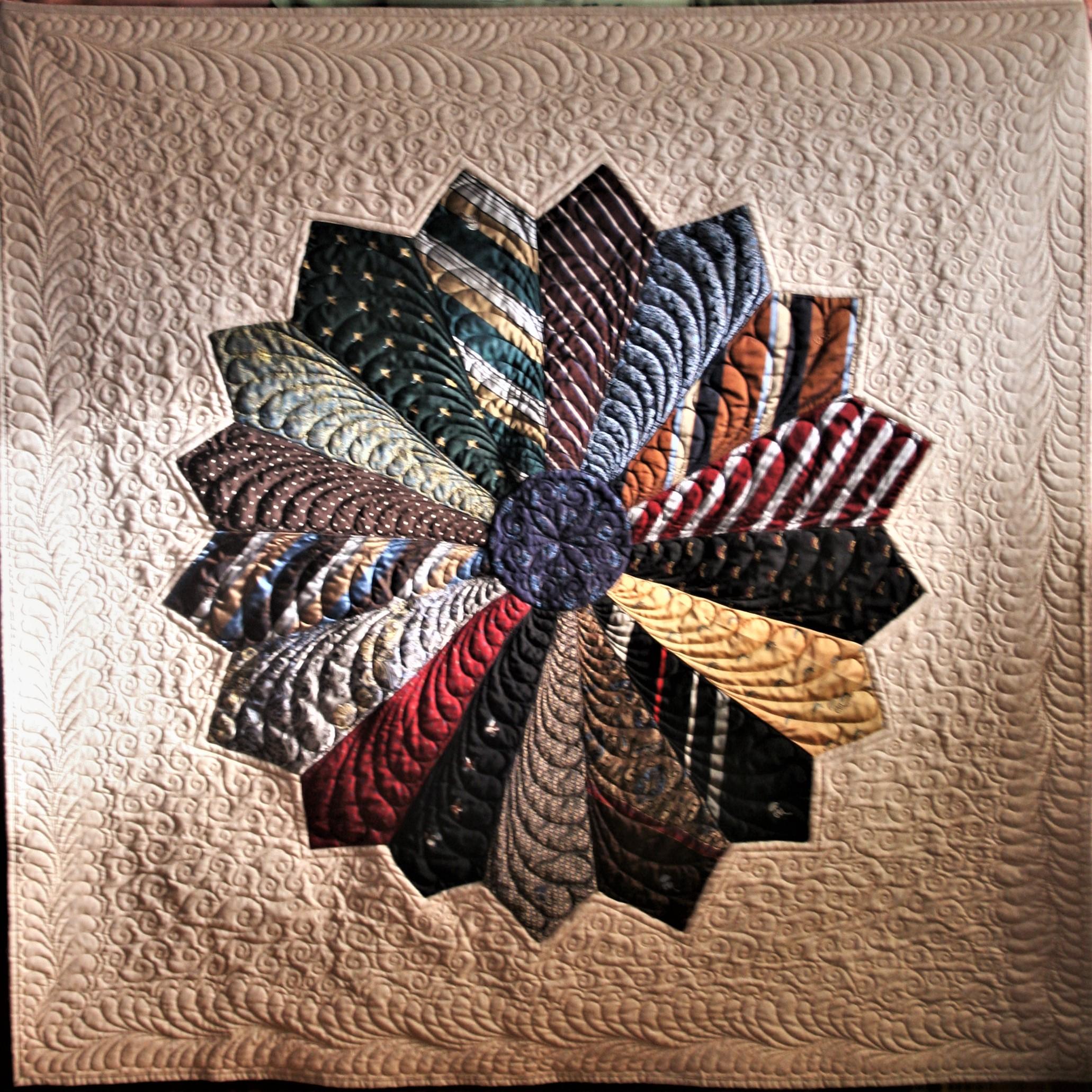 Swirls and Curls Tie Quilt (front)