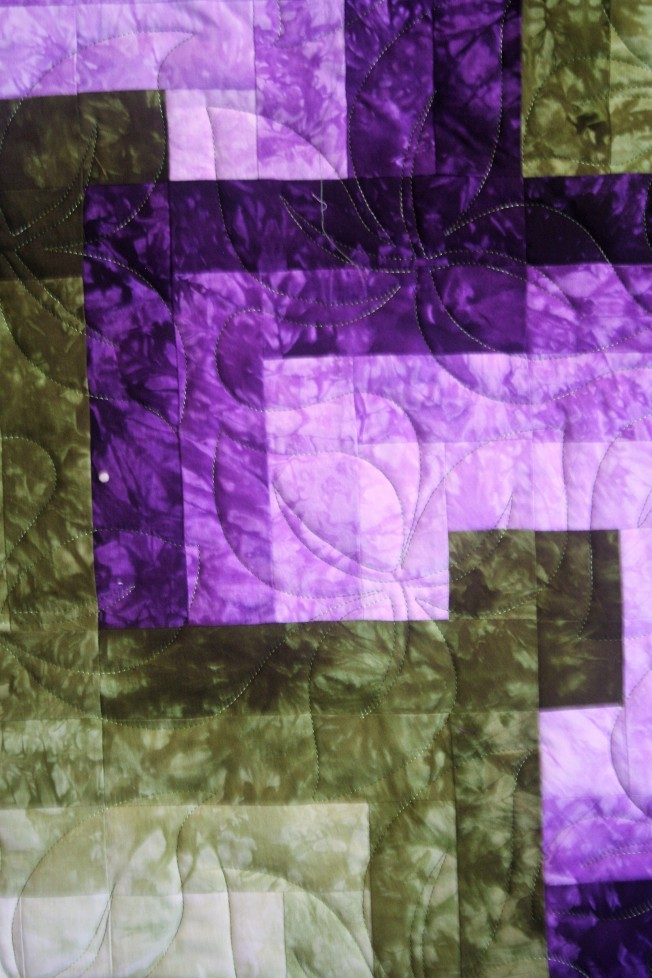 Illusions in Purple/Green (close up)