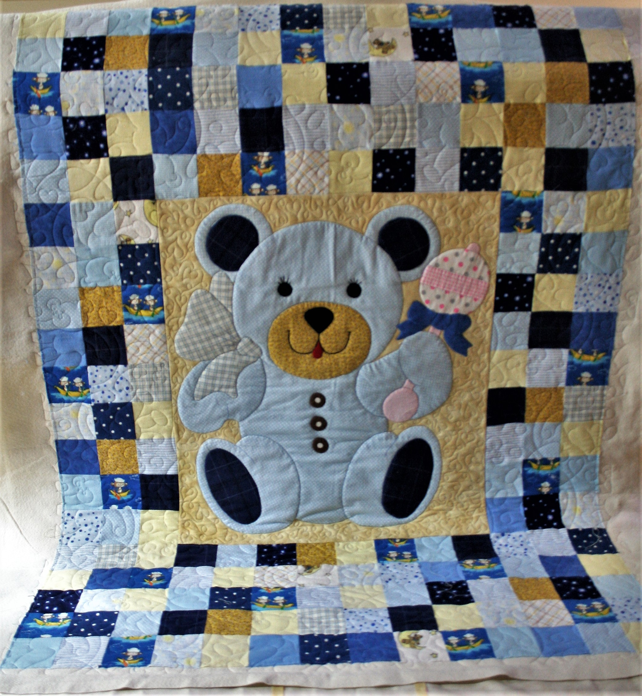Tumbling Blue Teddy (front)