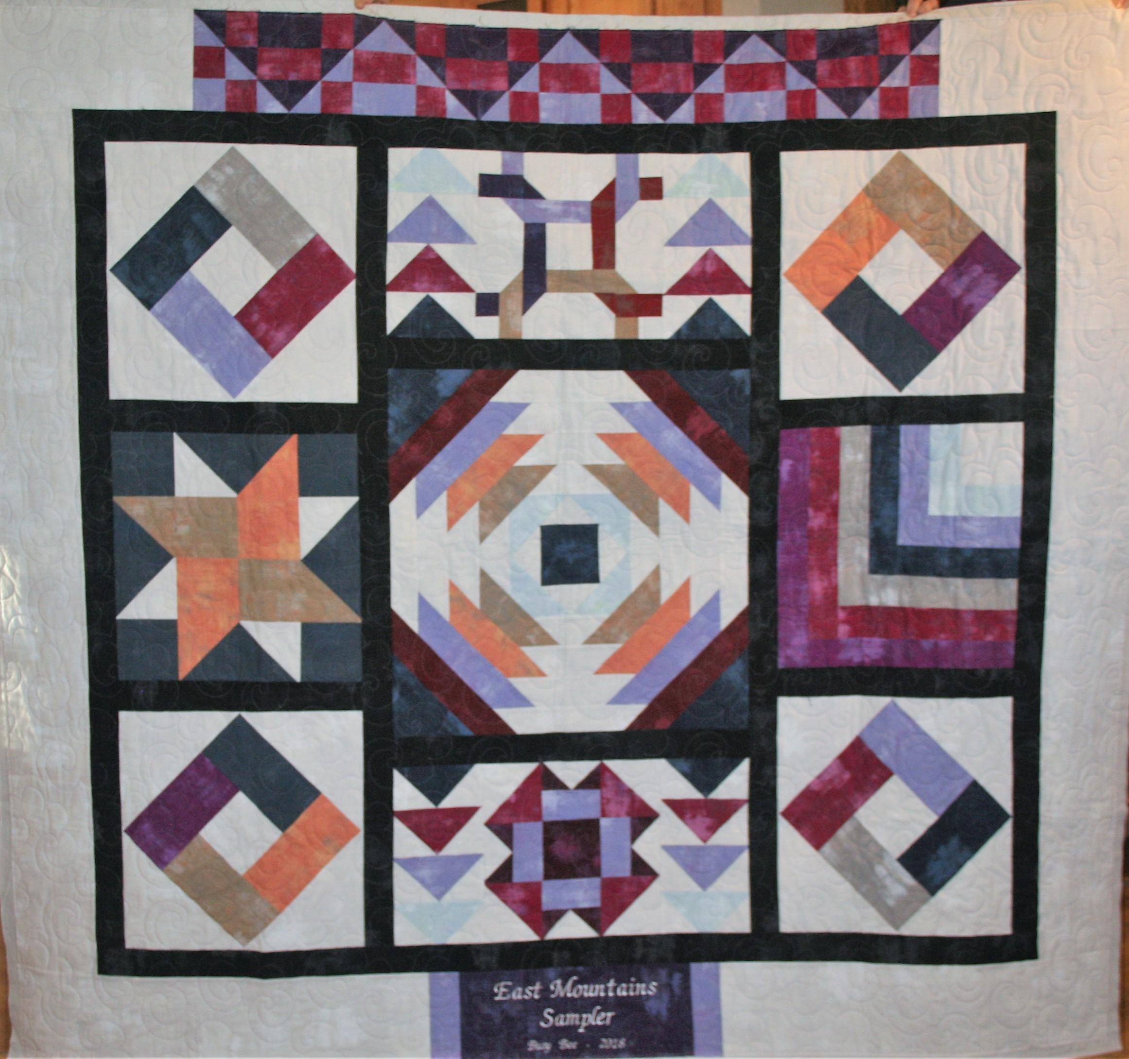 Purple Sampler Quilt in Grunge (front)