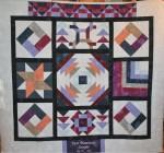 Purple Sample Quilt inGrunge