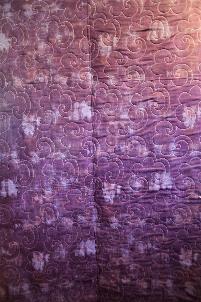 Purple Sampler Quilt in Grunge (back)