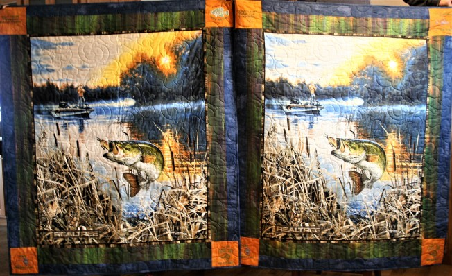 First and Second Fishing Quilt (both)