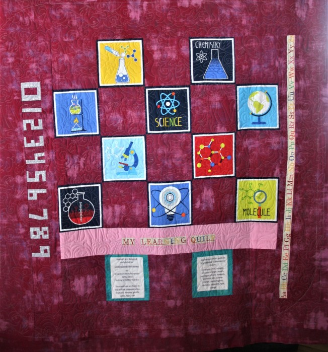 Learning Quilt #3 (back)