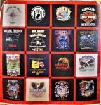 Flames T-Shirt Quilt