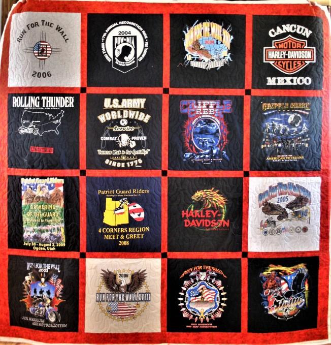 Flames T-Shirt Quilt (front)