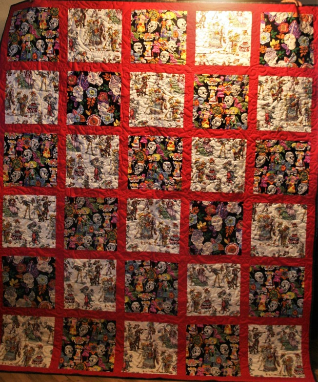 Scrappy Day of the Dead Quilt (front)