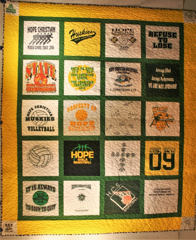 Sports T-Shirt Quilt (front)