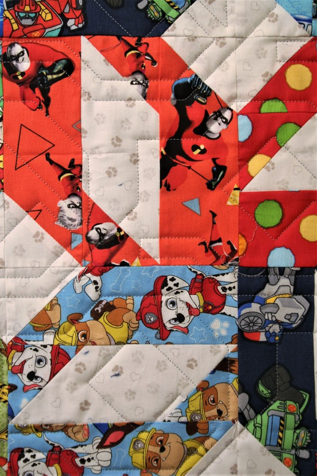 Nuts & Bolts I Spy Quilt (close up)