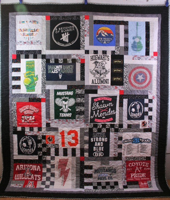 Checkered T Shirt Quilt (front)