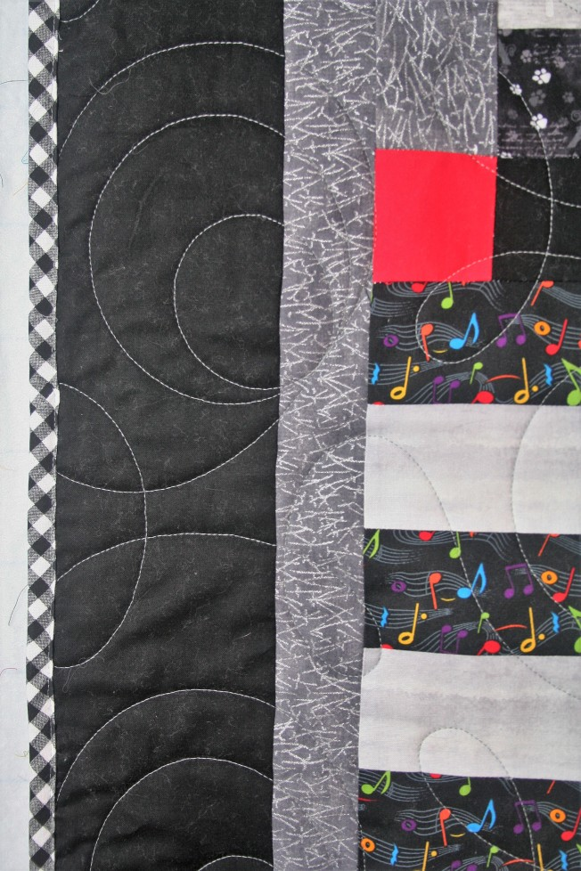 Checkered T Shirt Quilt (close up)