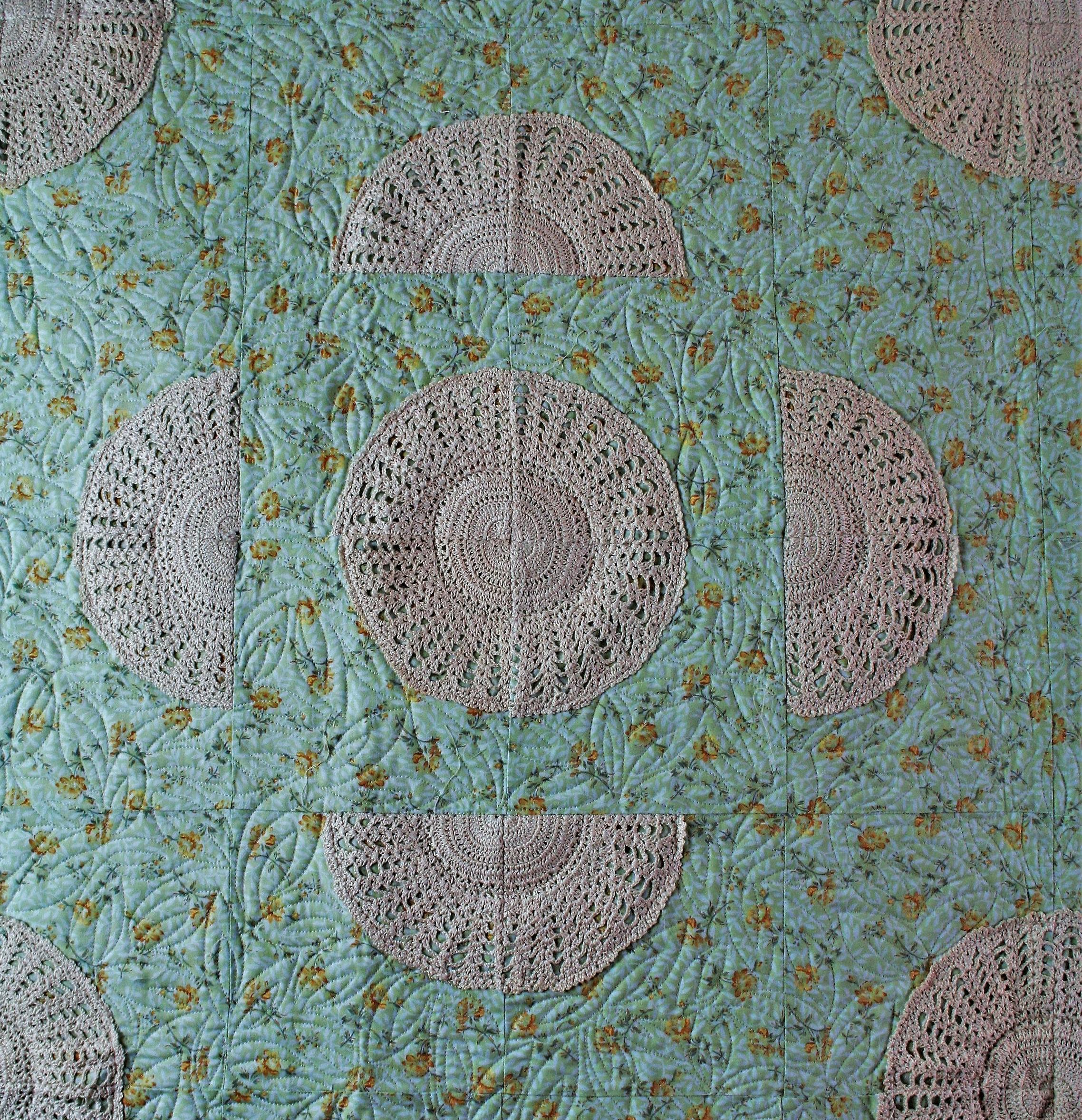 Crochet Doily Quilt (close up 1)