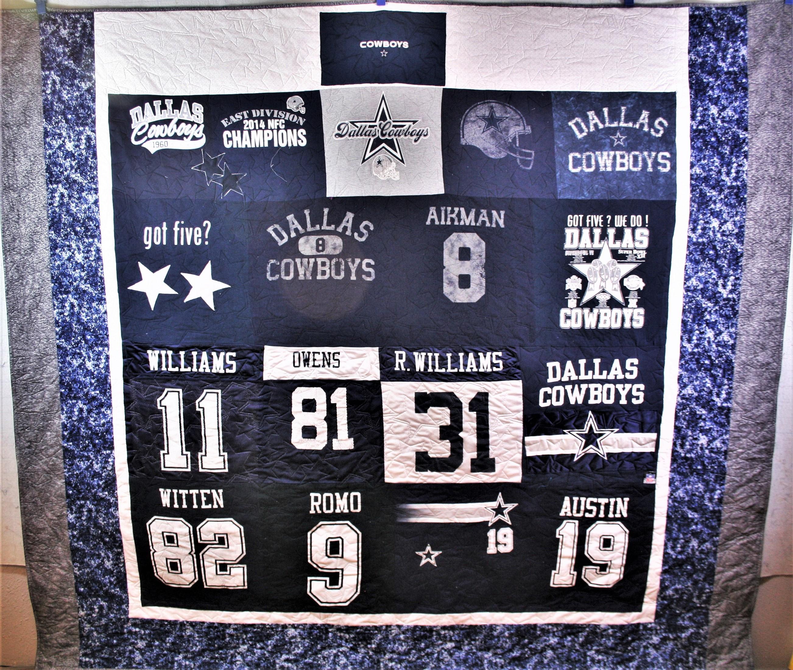 Dallas Cowboys T Shirt Quilt (front)