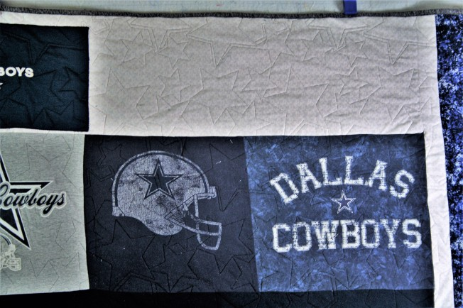 Dallas Cowboys T Shirt Quilt (close up 1)