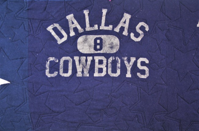 Dallas Cowboys T Shirt Quilt (close up 2)