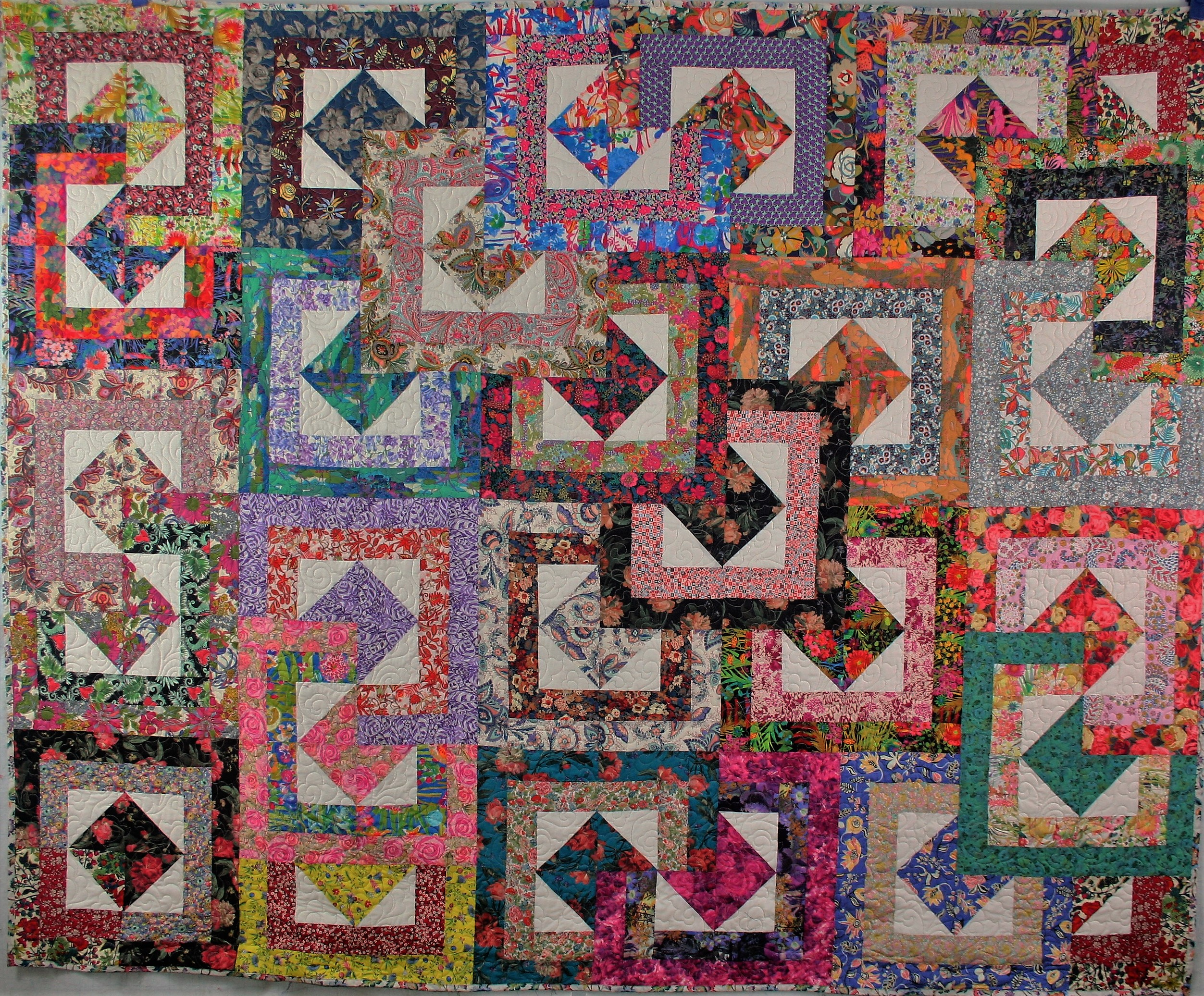 Three Patch Flower Quilt (front)