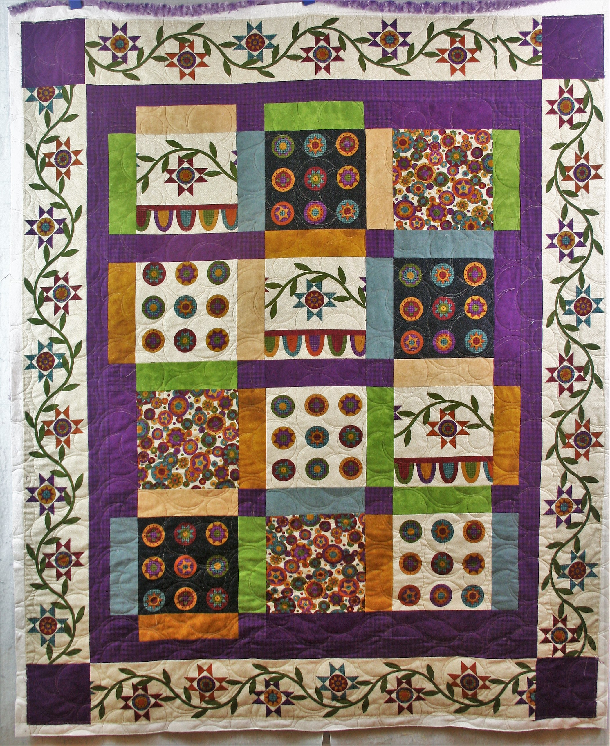 Purple Minky Blocks (front)