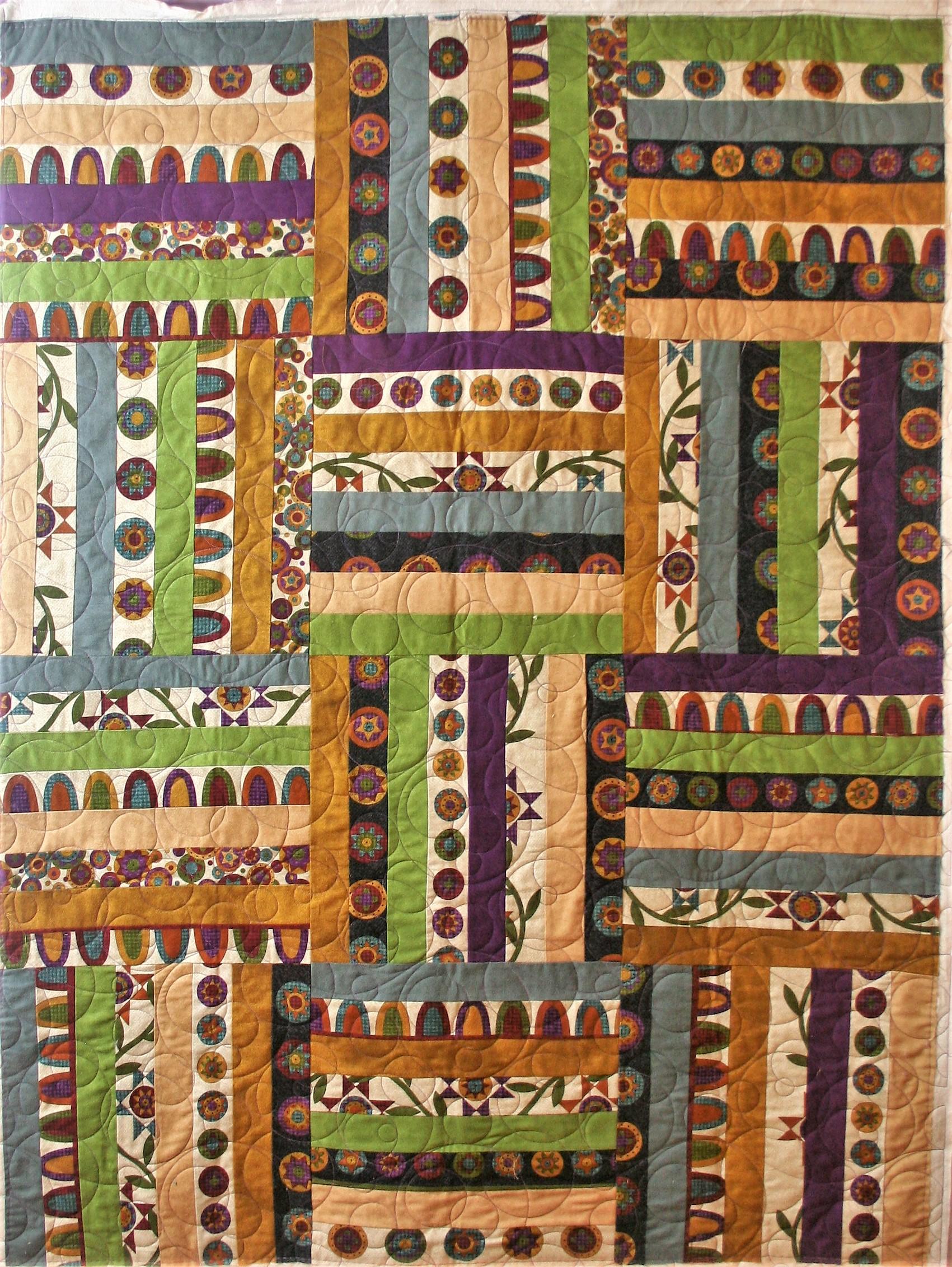 Purple Minky Stripes (front)