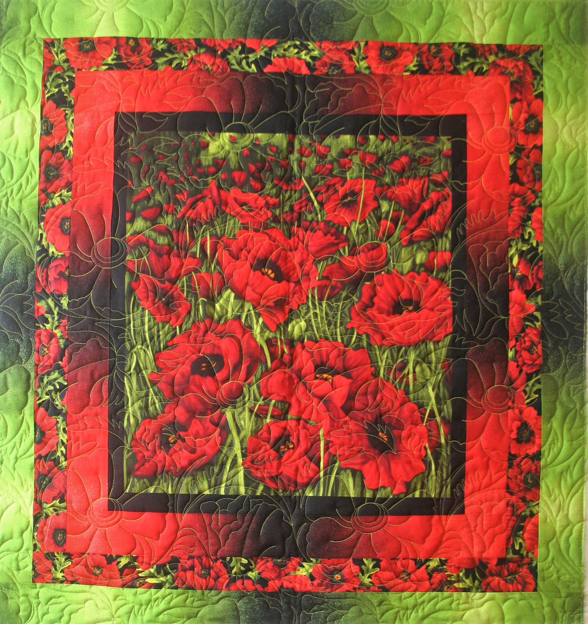 Red Poppies & Lime (front)