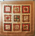 Golden Christmas Quilt