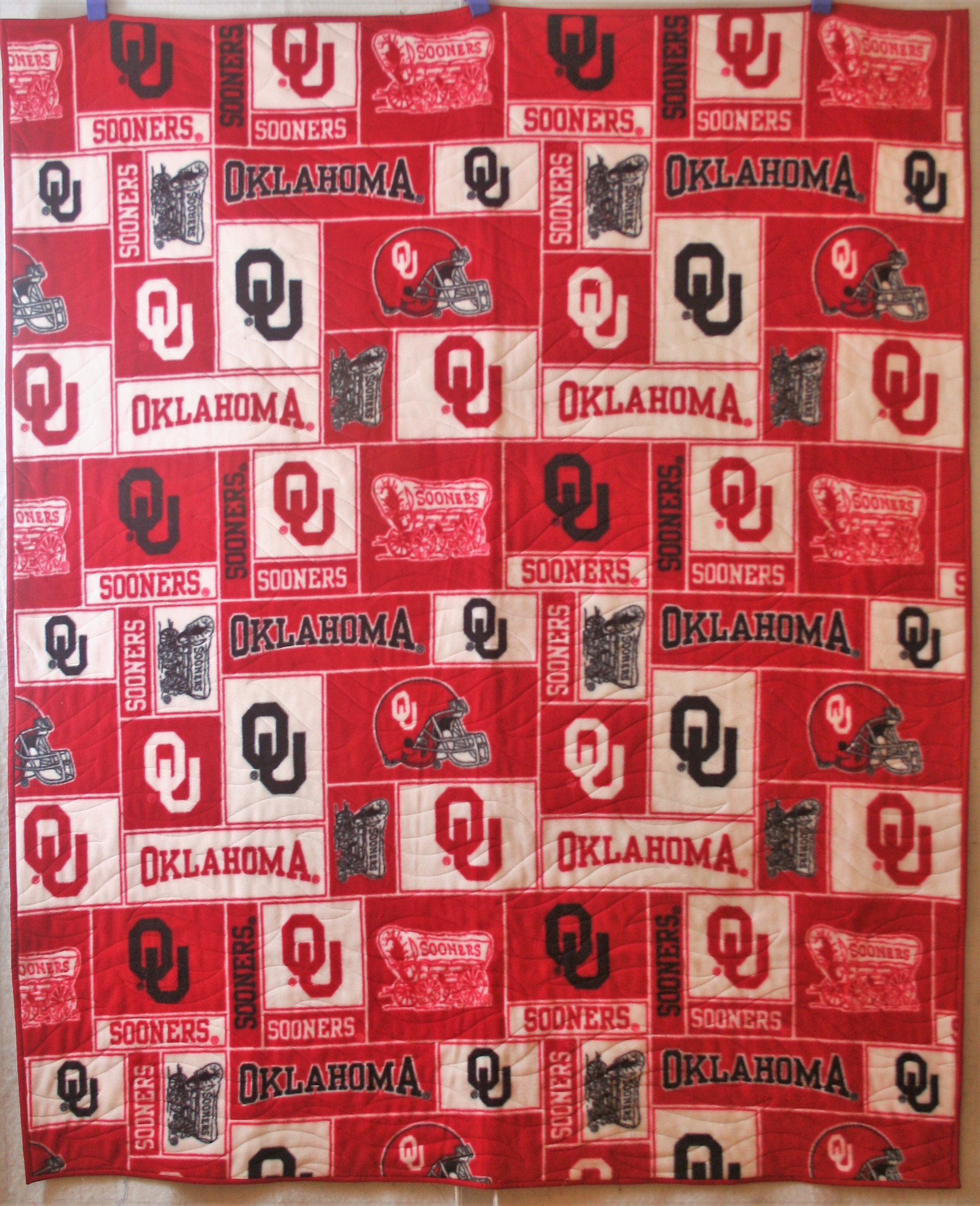 Sooners Quilt (back)