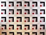Red Geometric Swirls