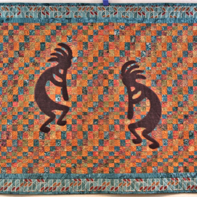 Commissioned Kokopelli Wallhanging (front)