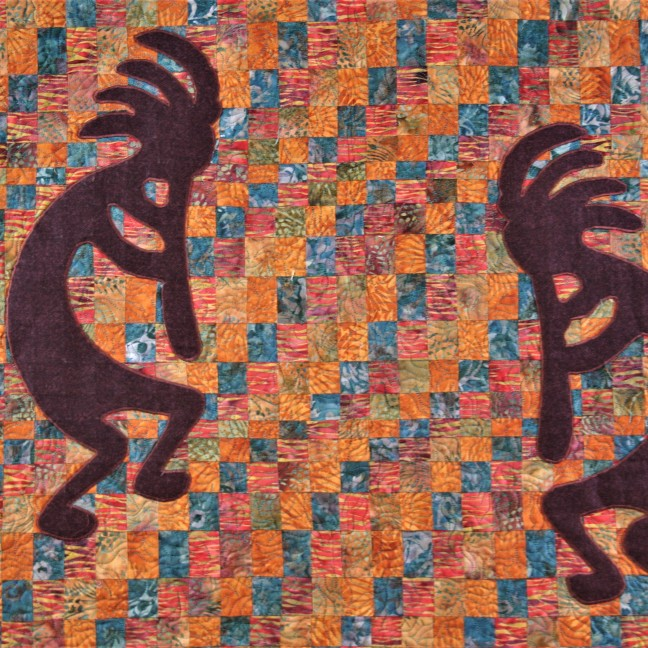 Commissioned Kokopelli Wallhanging (close up 1)