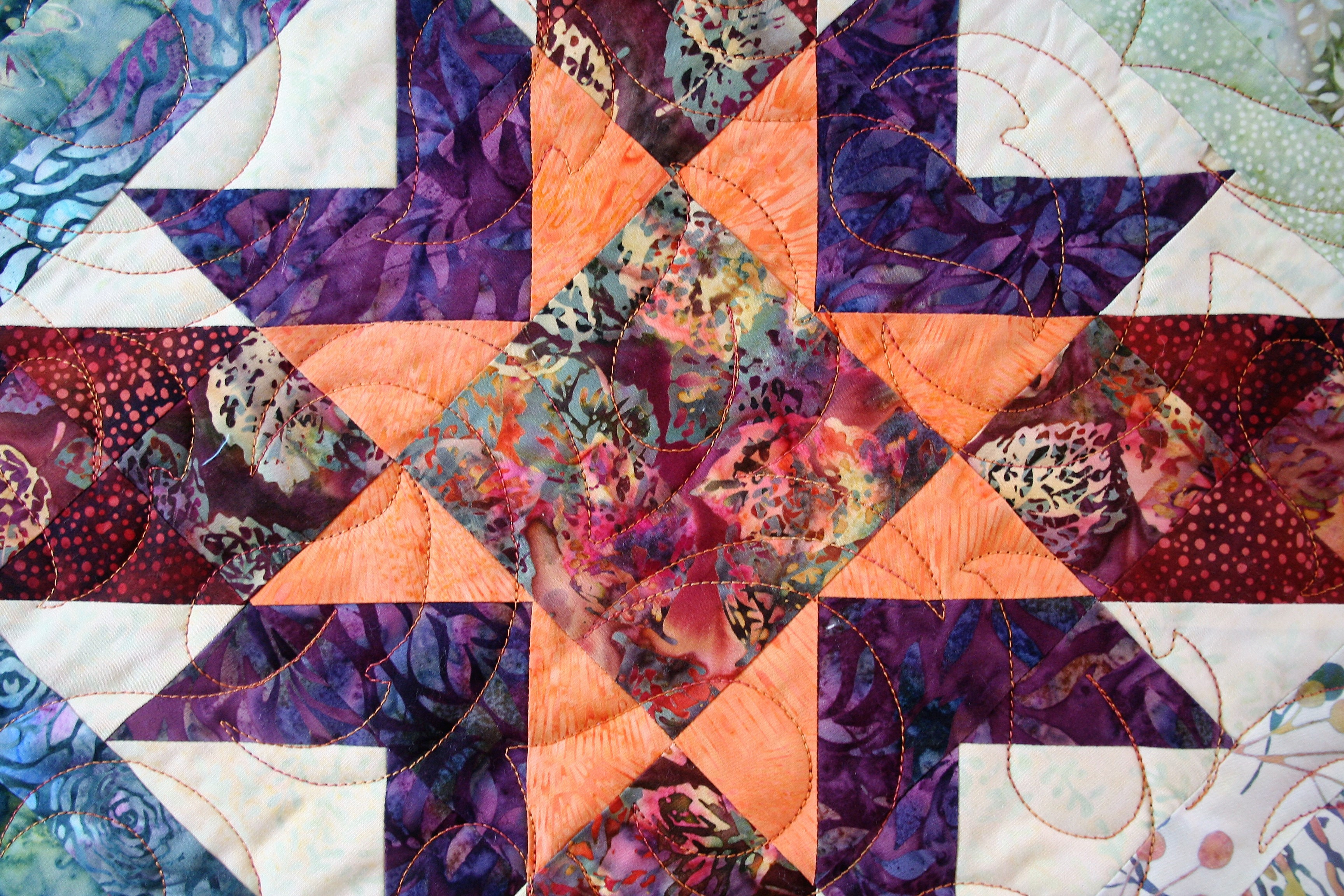 Wisteria Mystery Quilt (close up 2)