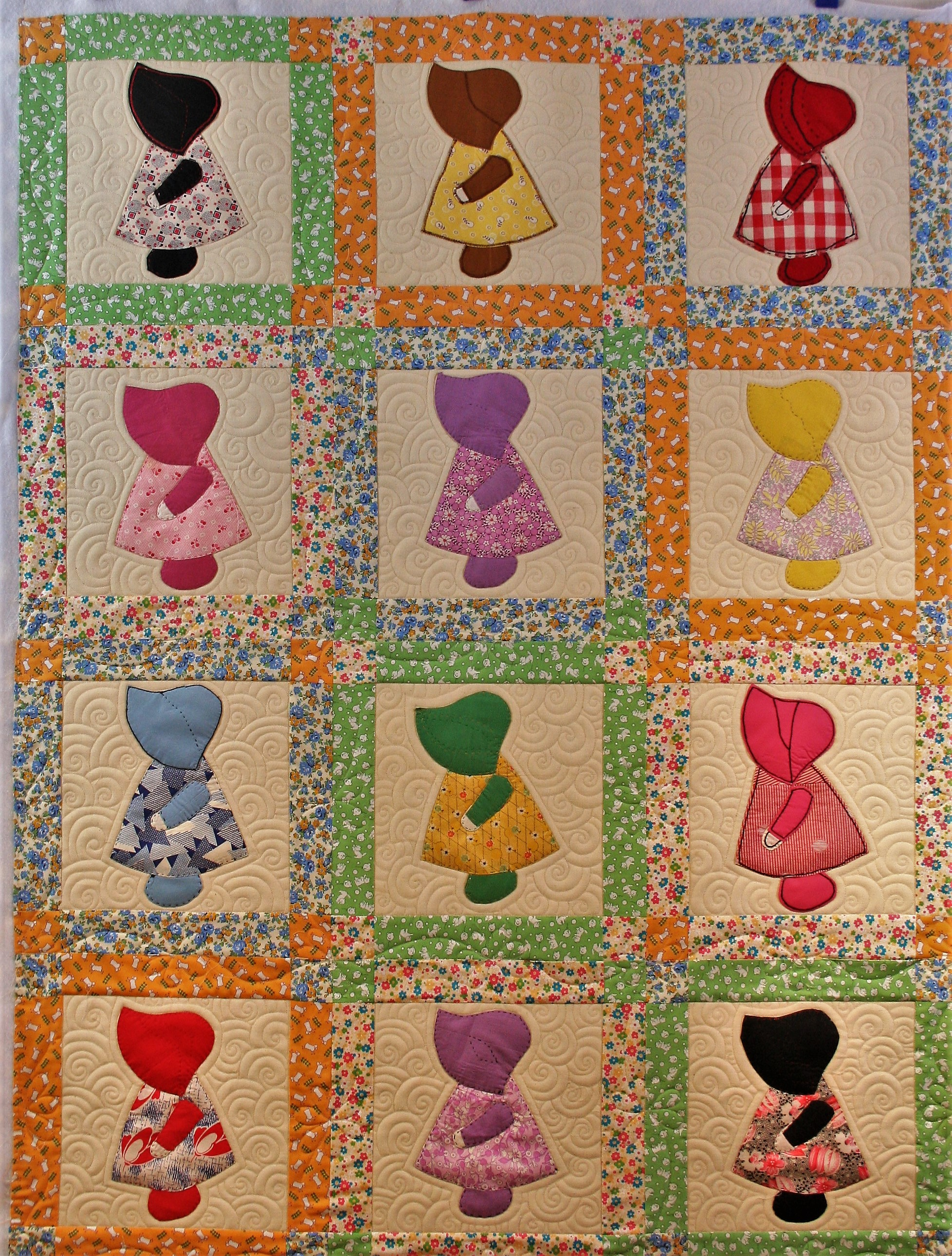 Sunbonnet Sue and Swirls (front)