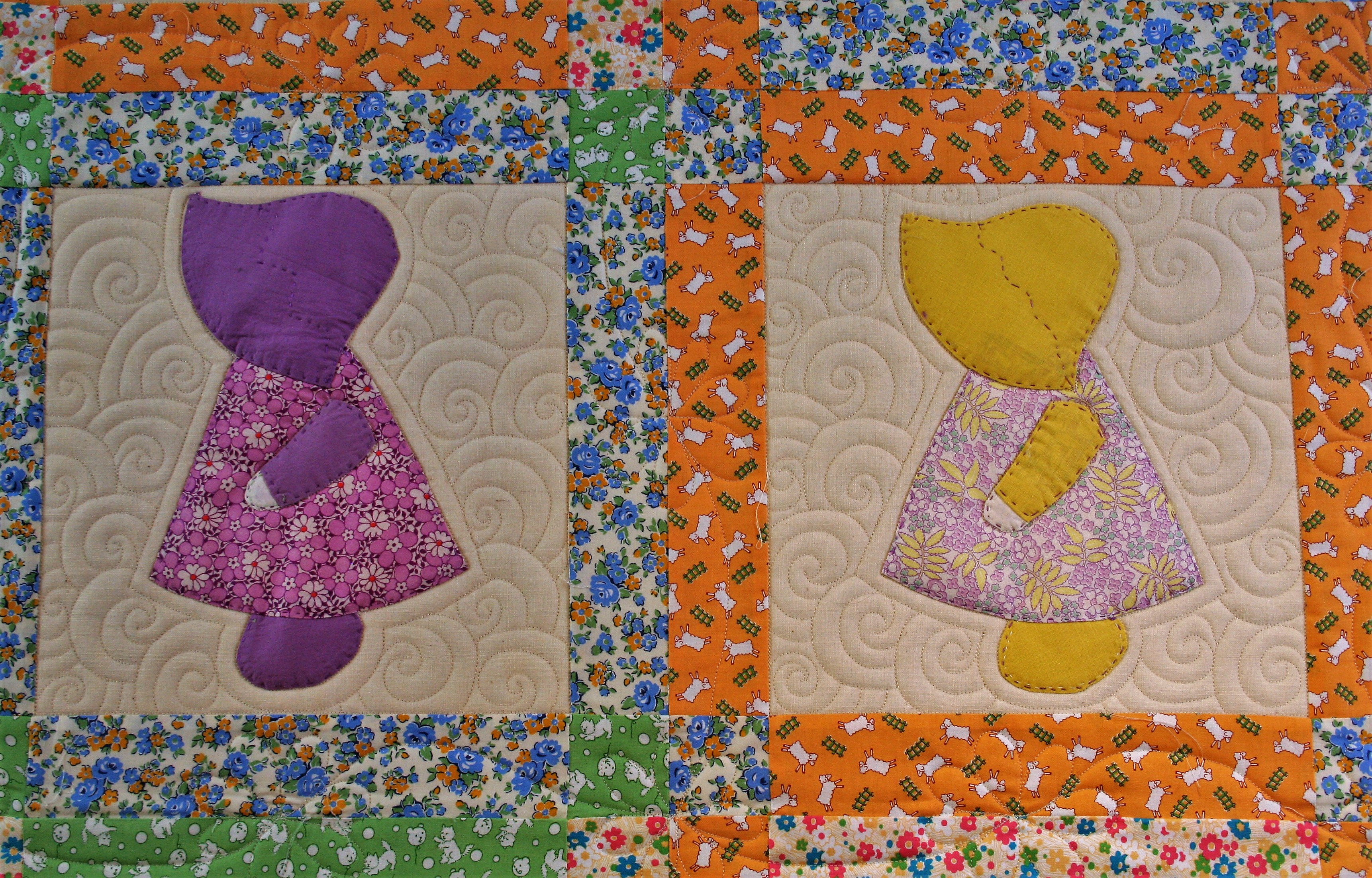 Sunbonnet Sue and Swirls (close up 2)