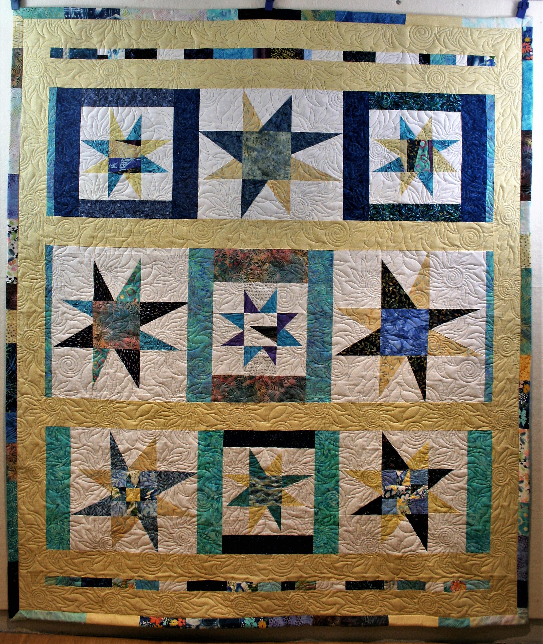 Spiral Flower Sunflower Stars (front)