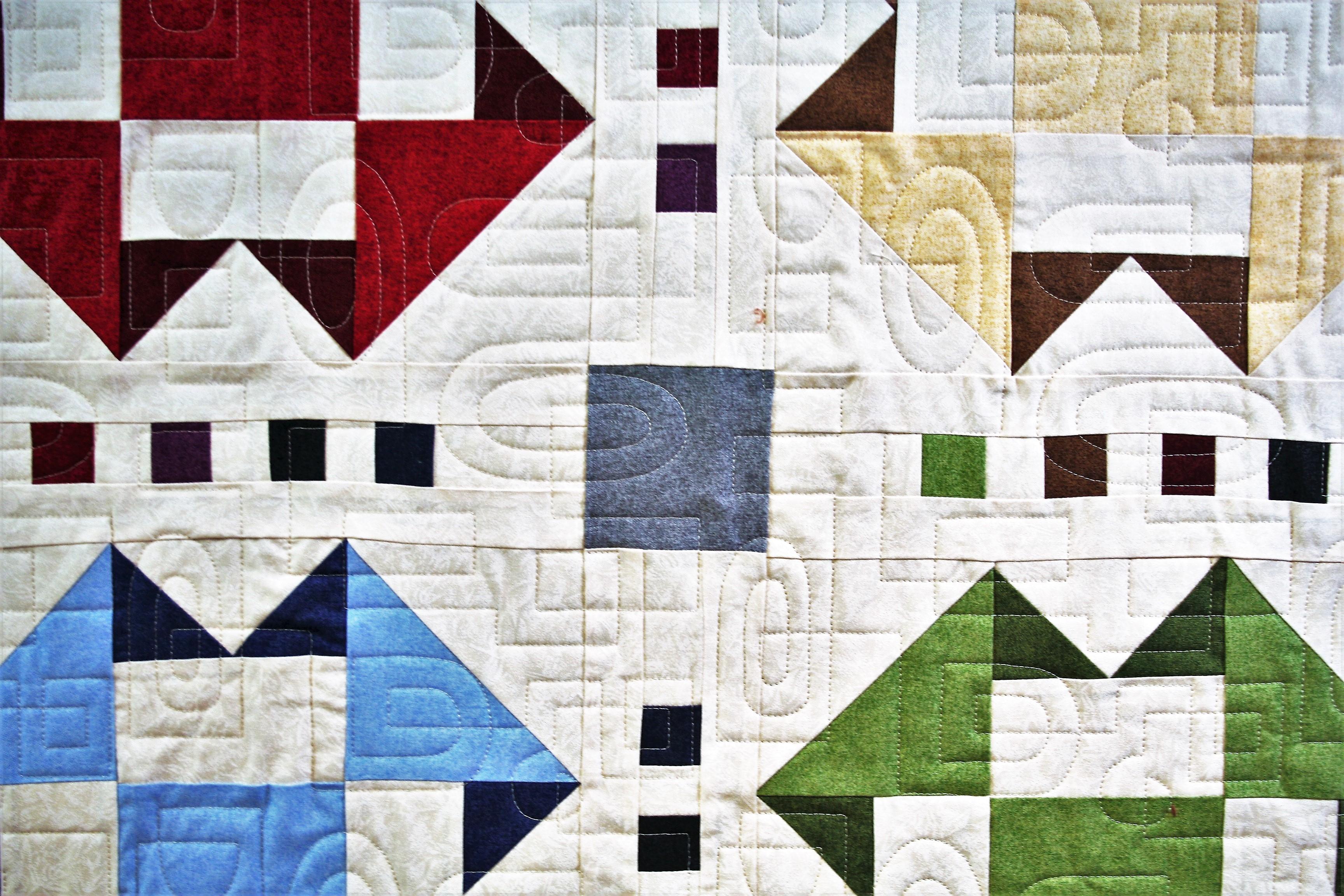Four Square Sashing (close up 1)